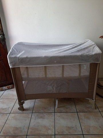 Berço camping Borigotto + colchão R$ 300,00 - Foto 4