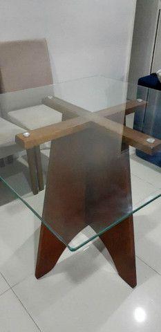 Mesa com tampa de vidro temperada - Foto 2
