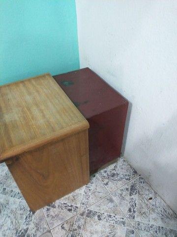 Cofre em aço grátis móvel madeira pra esconder ele - Foto 4