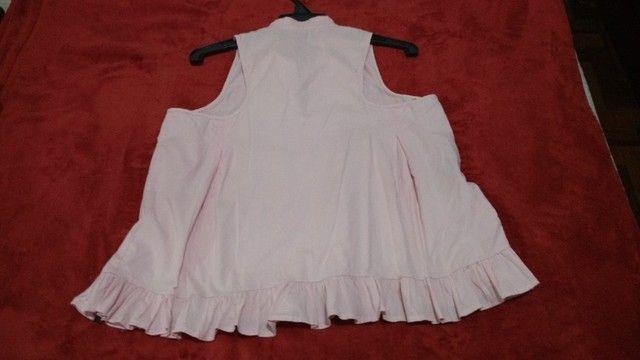 Blusa em tecido 100% algodão - M - Foto 3