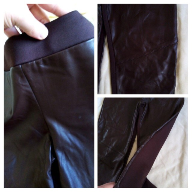 3 calças 12 anos usadas p/ menina (legging , jeans e malha) - Foto 2