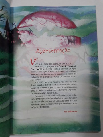 """Livro """"O MISTÉRIO DA CASA DA COLINA"""" - Foto 3"""