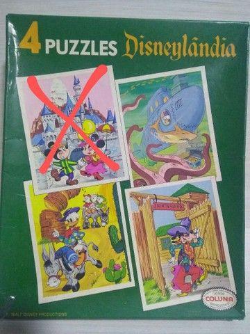 Antigo quebra cabeça Disneylândia