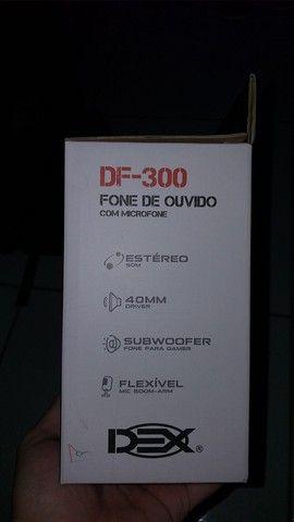 Fone de ouvido com microfone DEX(DF-300)