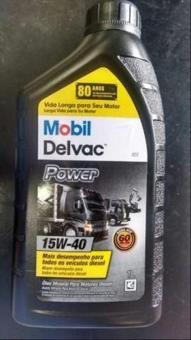Kit com 6 litros de oleo mobil delvac power 15w40