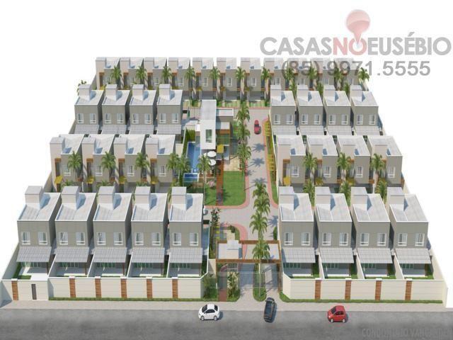 Casa em condominio de 140 m, 3 suites, 2 vagas, nova com lazer, perto ce - Foto 19