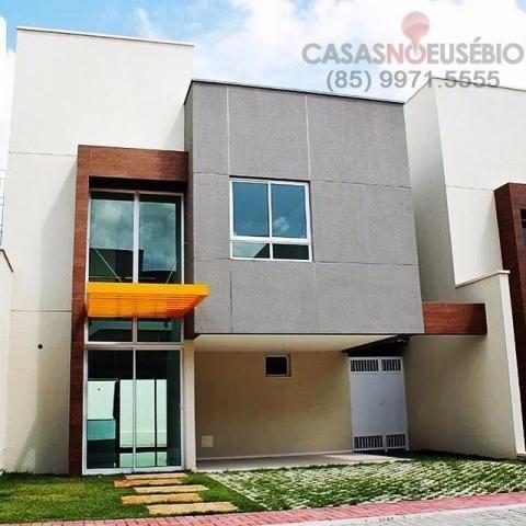 Casa em condominio de 140 m, 3 suites, 2 vagas, nova com lazer, perto ce - Foto 2