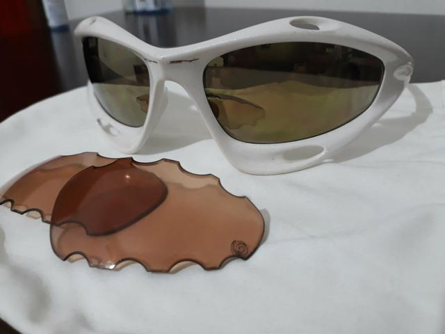 8996e5971d397 Óculos Oakley Racing Jacket Branco Pérola numerado - Bijouterias ...