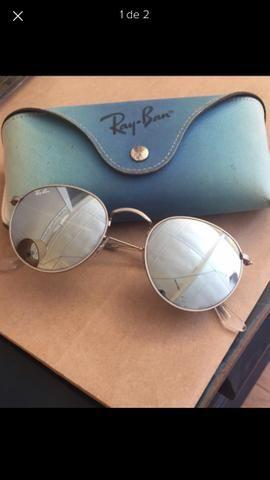Ray Ban round metal prata espelhado - Bijouterias, relógios e ... a9bb3d0708