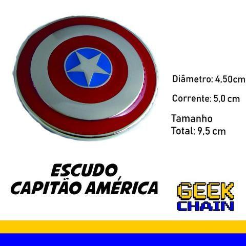 Chaveiro Geek - Escudo Capitão América (curvado) - Hobbies e ... 2a755d7d0c