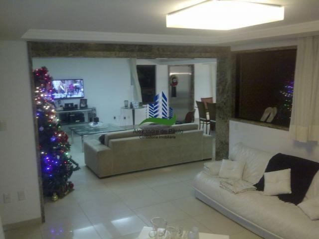 Apartamento alto luxo, 4 quartos, beira mar de candeias - Foto 4