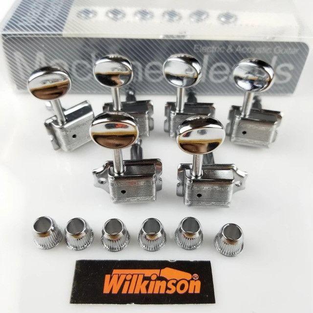 Tarraxas Wilkinson Vintage 6 Em Linha (ñ/é Gotoh Fender) stratocaster telecaster - Foto 2