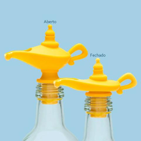 Tampa e Dispenser Dosador para garrafa Lâmpada Aladim - Foto 4
