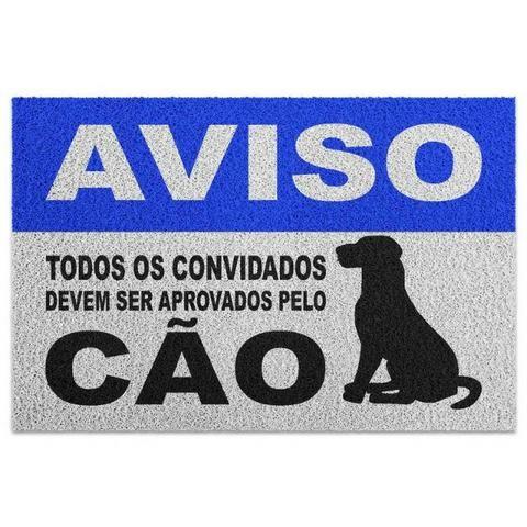 Capacho em Vinil Aprovados pelo Cão - 60 x 40 - Foto 2