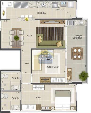 Apartamento à venda com 2 dormitórios em Guilhermina, Praia grande cod:JG07477 - Foto 8