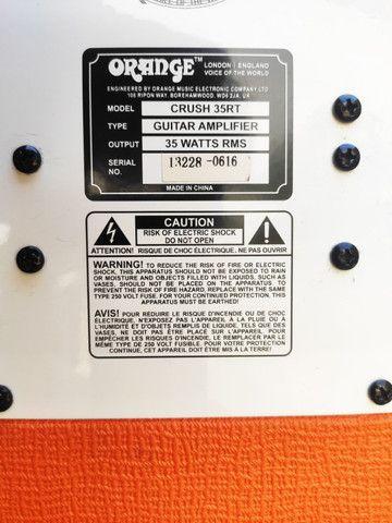 Amplificador Orange Crush 35rt - Foto 4