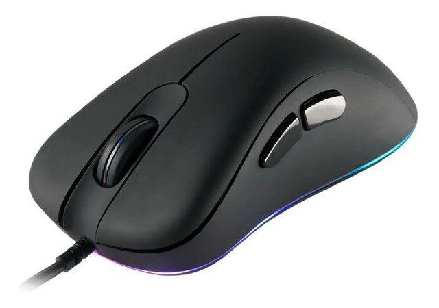 Mouse Gamer Com Fio Dazz Fps Series RGB 12000 DPI - Loja Natan Abreu - Foto 3