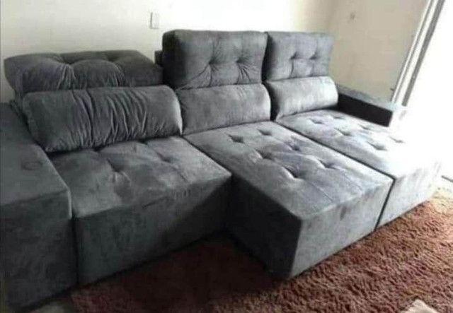 Sofá retrátil e reclinável 3 metros. - Foto 4