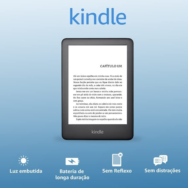 Kindle 10a. geração com bateria de longa duração - Cor Preta - Foto 2