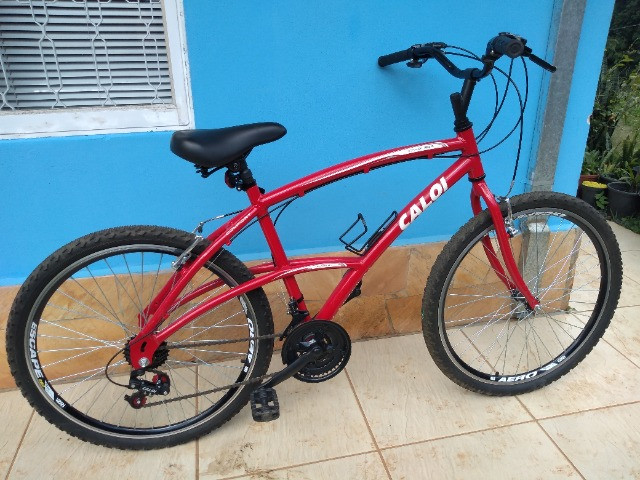 Bicicleta Caloi 200 Vermelha Seminova - Foto 5