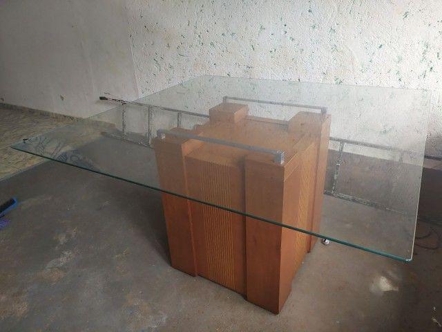 Vendo mesa de vidro - Foto 2
