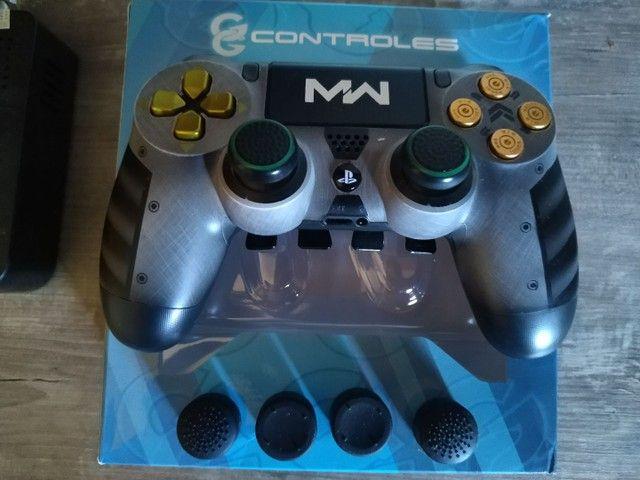 Controle PS4 alta performance com 4 paddles + 2 pares de grip