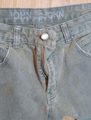 Calça jeans verde John John  - Foto 4