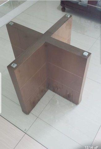 Mesa de Jantar 1,50m x1,50m com vidro temperado de 20mm. - Foto 3