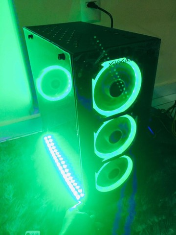 Gabinete Vulcano Vidro Temperado com kit fans RGB ou sem  -entrego frete grátis  - Foto 4