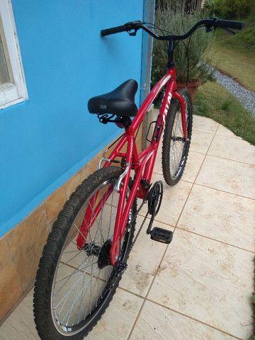 Bicicleta Caloi 200 Vermelha Seminova - Foto 4