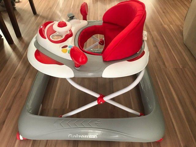 Andador Para Bebê Liam Musical Galzerano Cinza - Foto 4