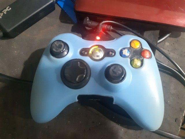 Xbox 360 slim + Kinect +2 jogos original  - Foto 4