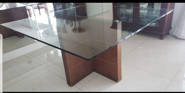 Mesa de Jantar 1,50m x1,50m com vidro temperado de 20mm. - Foto 2