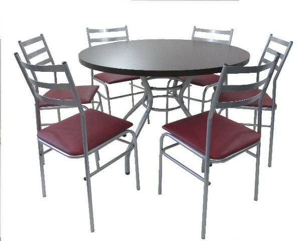 Mesa redonda para buffet restaurante sal o de festa for Cocina moderna tipo buffet