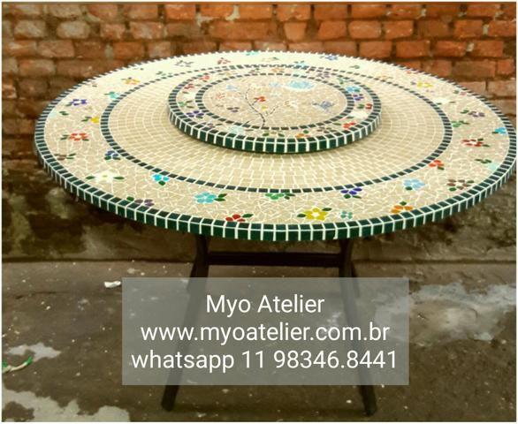 Tampo, Mosaico, mesa, varanda, sacada - Foto 2
