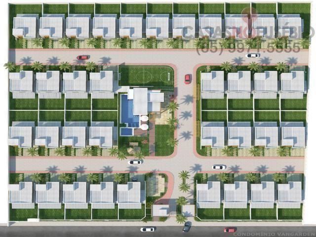 Casa em condominio de 140 m, 3 suites, 2 vagas, nova com lazer, perto ce - Foto 18