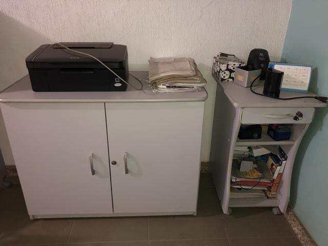 Vendo mesa l e moveis para escritório - Foto 2