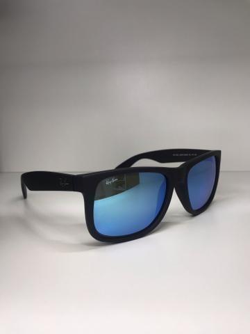 Óculos Rayban Justin Espelhado Azul - Bijouterias, relógios e ... f69ea62c21
