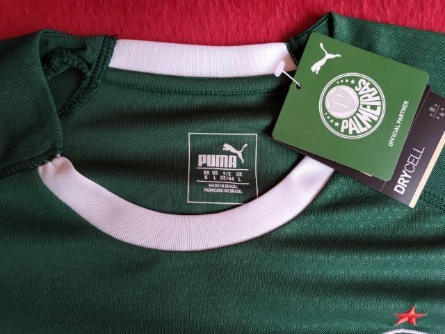 Camisa Puma Palmeiras Verde e Branca Modelo 2019 - Foto 5