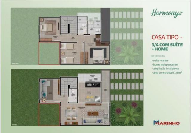 Casas Duplex de 3/4 Suíte Master e Closet - Home - No Melhor do SIM - Foto 17