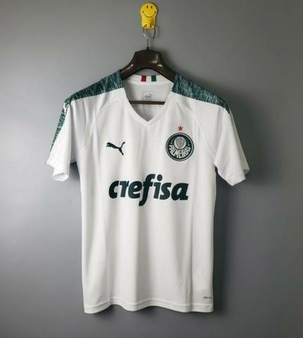 Camisa Puma Palmeiras Verde e Branca Modelo 2019 - Foto 2