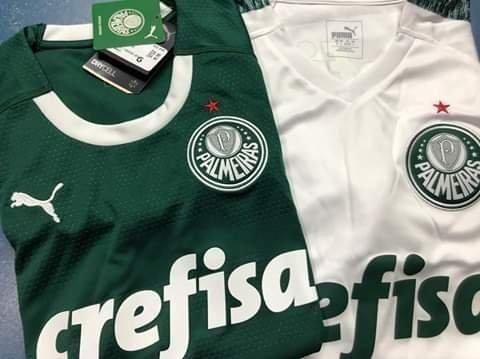 Camisa Puma Palmeiras Verde e Branca Modelo 2019