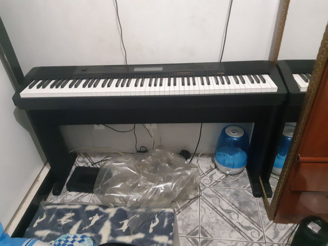 Piano eletrônico Casio CDP 230 + móvel de suporte  - Foto 5