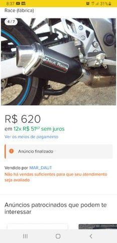 Ponteira esportiva universal para moto  - Foto 3