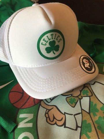Conjunto moletom Boston Celtics (boné de brinde) - Foto 3