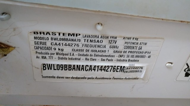 maquina de lavar 9kg brastemp (detalhe) - Foto 4