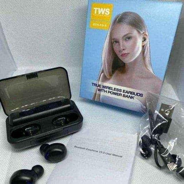 Fone de Ouvido F9-5 Tws Bluetooth 5.0 Com Microfone - Foto 2