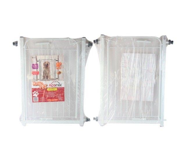 Portão Grade Proteção Pet Útil Branco 69 + 10 cm de extensor p/ Criança e Cães. Valor 120 - Foto 2