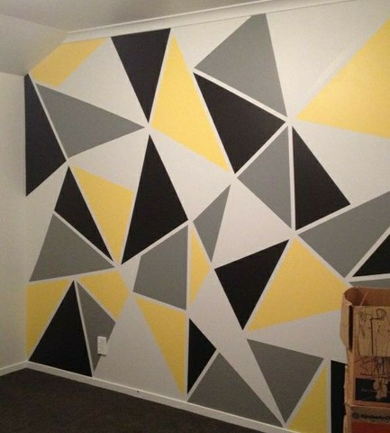 Pinturas geométricas em parede