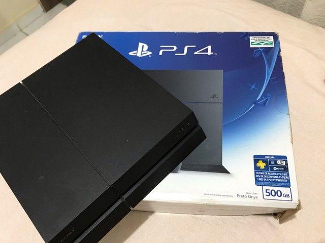PS4 Preto Fosco Onyx 500GB (seminovo)  - Foto 4